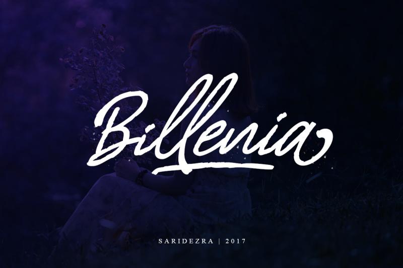 billenia-script-font