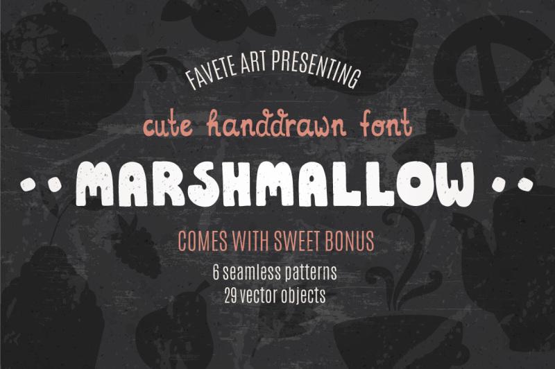 marshmallow-cute-handdrawn-font