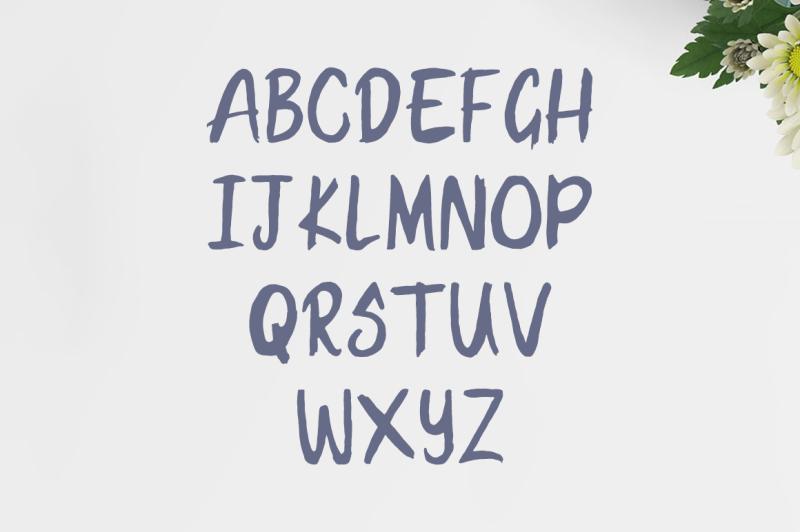 hanma-brush-font