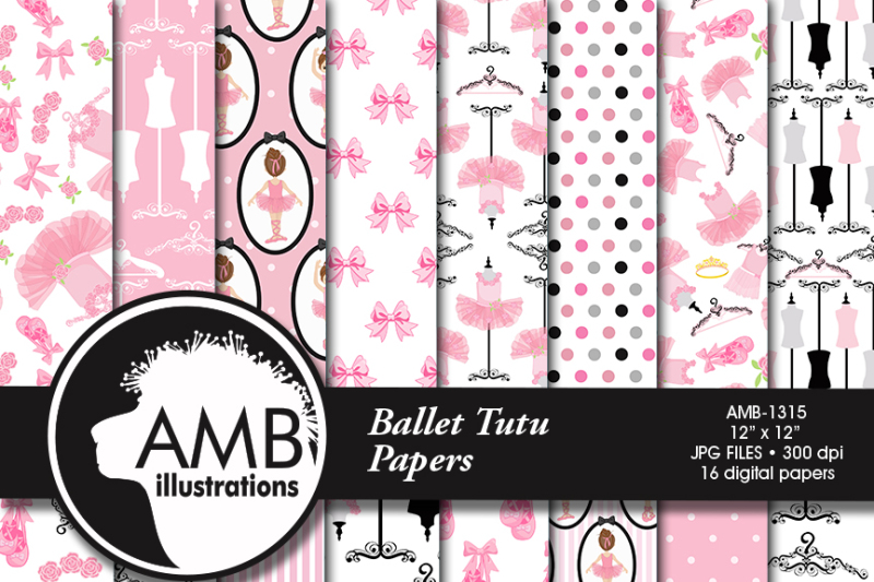 ballet-patterns-ballerina-patterns-ballet-scrapbooking-paper-amb-1315
