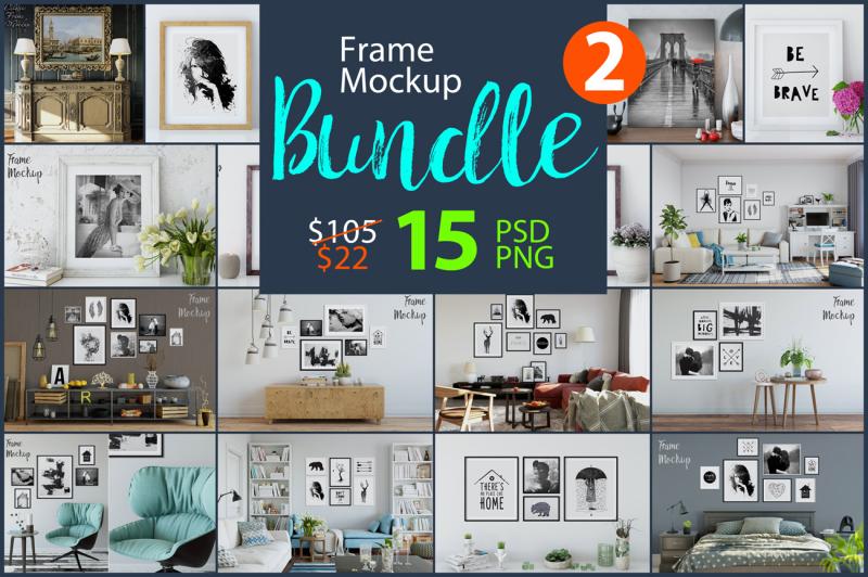 Free Frame Mockup Bundle Vol. 2 (PSD Mockups)