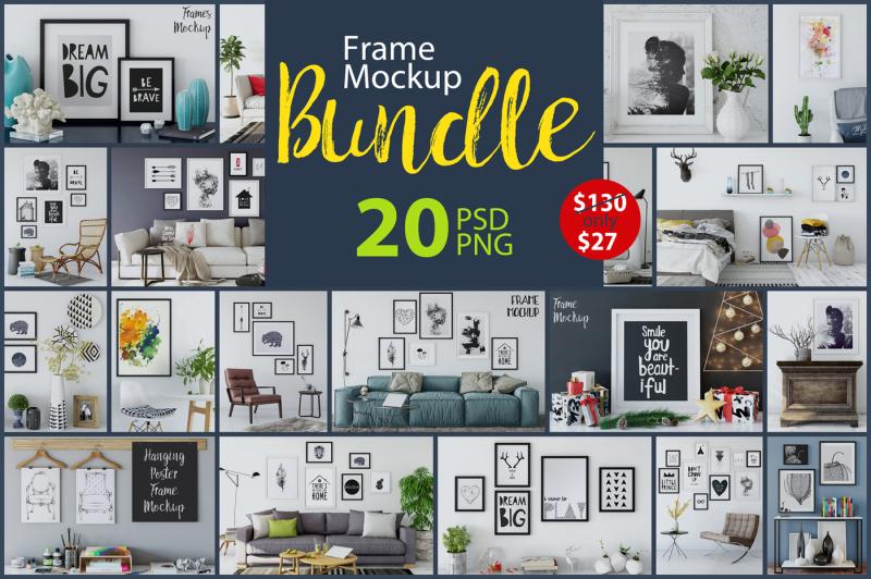 Free Frame Mockup Bundle Vol 1 (PSD Mockups)