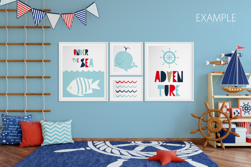 kids-wall-and-frames-mockup-bundle