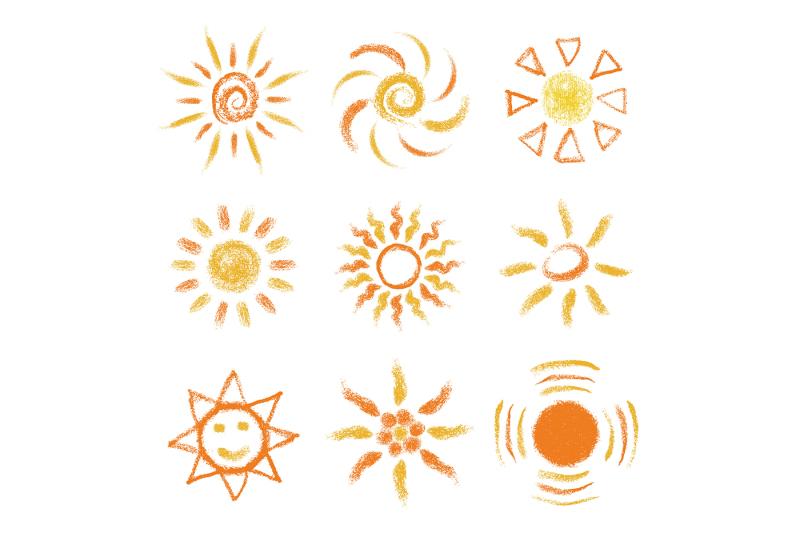 pastel-sun-logo-collection