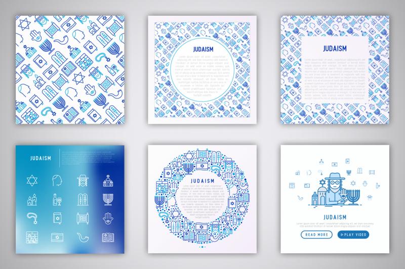 judaism-icons-set-concept