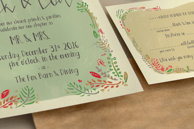 wreath-illustration-wedding-invitation-suite
