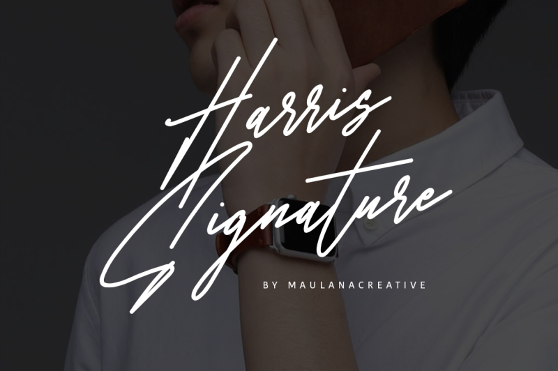 harris-signature-typeface