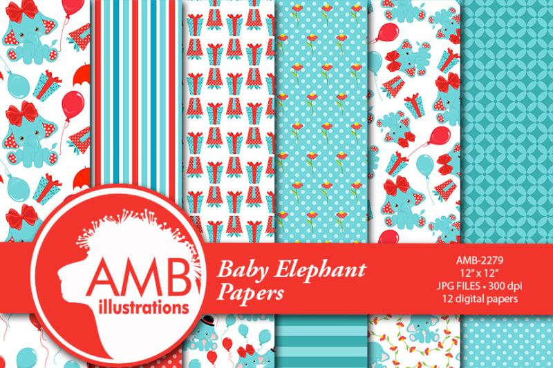 elephant-papers-baby-elephant-patterns-amb-2279