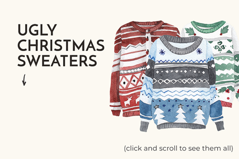 sale-watercolor-ugly-christmas-sweaters