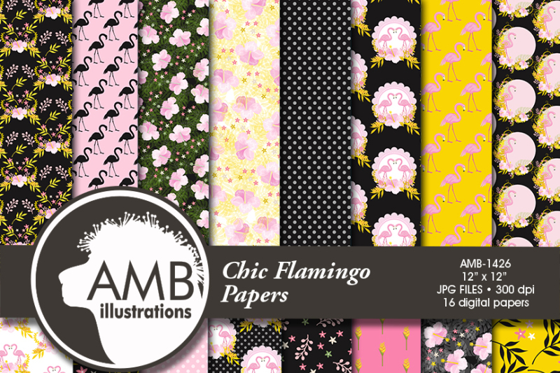 flamingo-patterns-floral-papers-tropical-amb-1426
