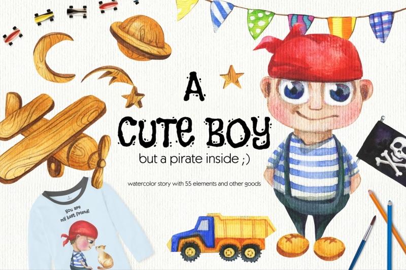 cute-boy-hand-drawn-set