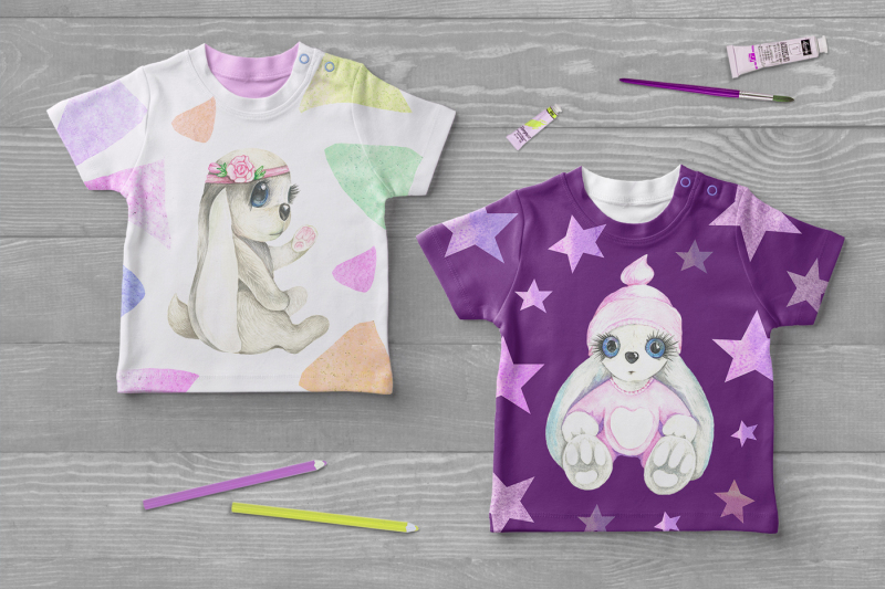 cute-rabbits-in-watercolors