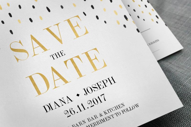 black-amp-gold-polkadot-wedding-suite