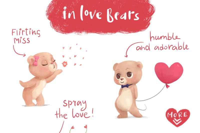 Unbearable Love Clip Art Sale 50 Off By Zapolzunart