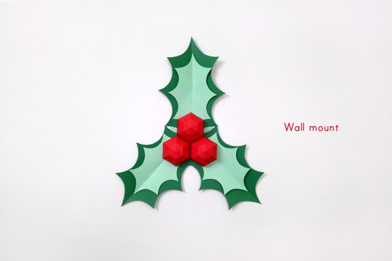 diy-christmas-holly-stick-3d-papercraft