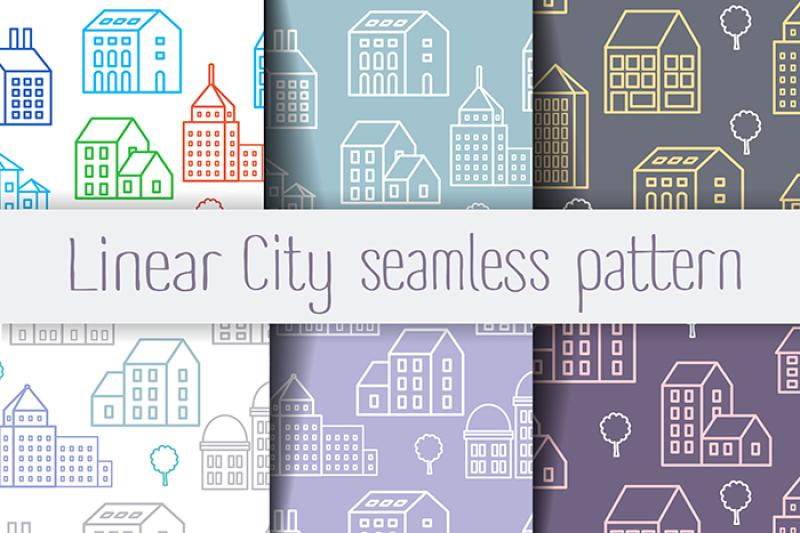 set-seamless-linear-pattern-of-urban-buildings