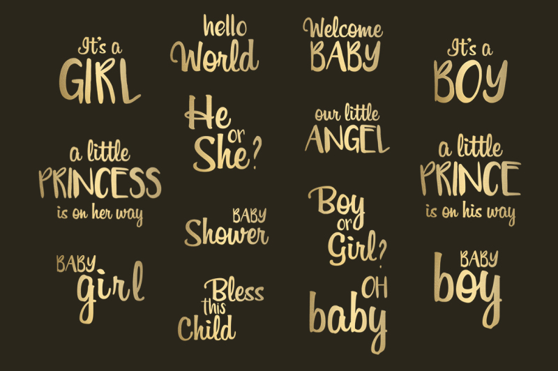 baby-shower-gold-foil-word-art
