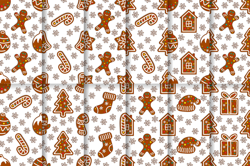 christmas-gingerbread-seamless-pattern-set