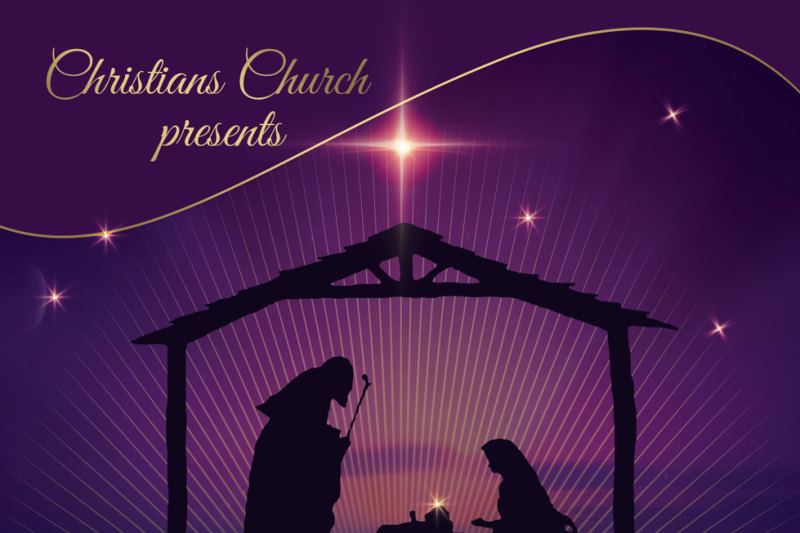 He Is Born Hope Christmas Flyer Poster By Artolus Thehungryjpeg Com
