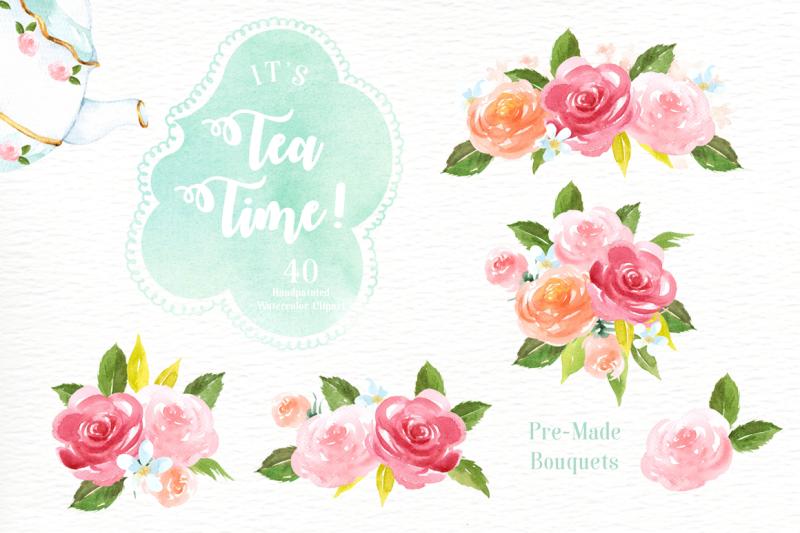 it-s-tea-time-watercolor-cliparts