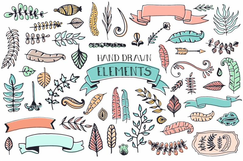 56-doodle-decoration-elements