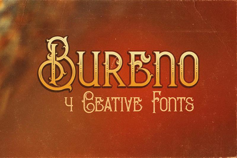 bureno-decorative-font