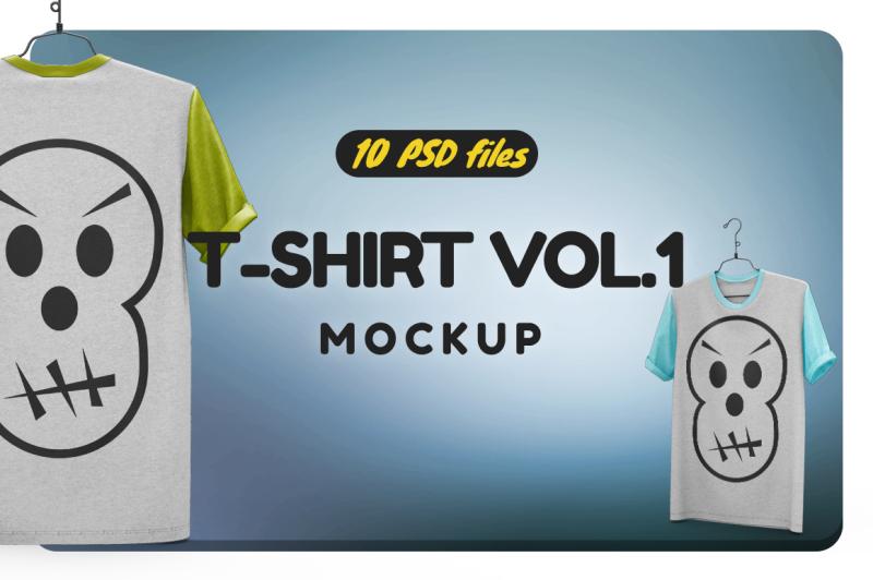Free T-shirt Vol.1 (PSD Mockups)