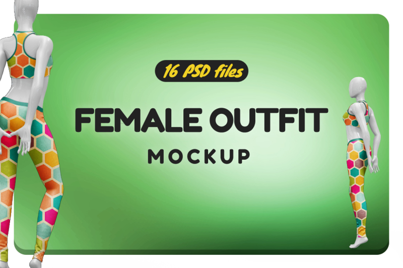 Free Female Outfit Vol.3 Mockup (PSD Mockups)