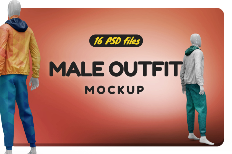 Free Male Outfit Vol.3 Mockup (PSD Mockups)
