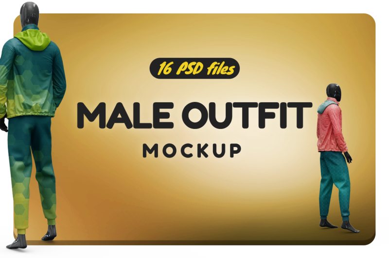 Free Male Outfit Vol.4 Mockup (PSD Mockups)