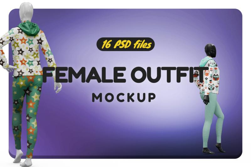 Free Female Sport Outfit Vol.2 Mockup (PSD Mockups)
