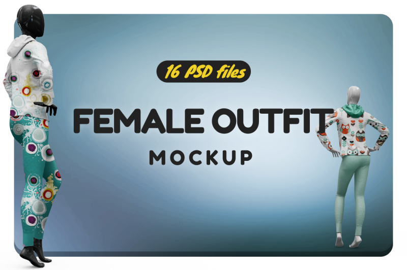 Free Female Sport Outfit Vol.3 Mockup (PSD Mockups)