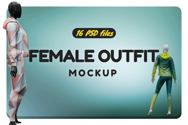 Free Female Sport Outfit Vol.4 Mockup (PSD Mockups)
