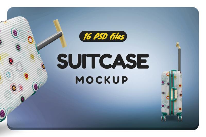 Free Bag Suitcase Vol.1 Mockup (PSD Mockups)