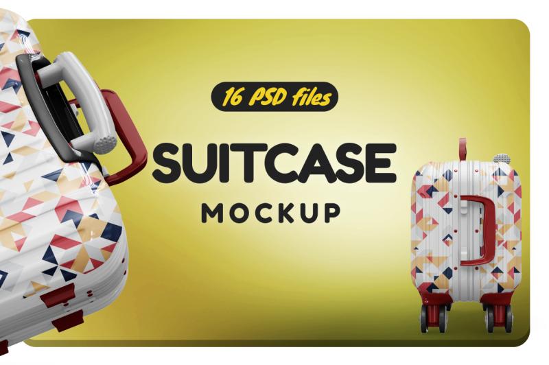 Free Bag Suitcase Vol.3 Mockup (PSD Mockups)