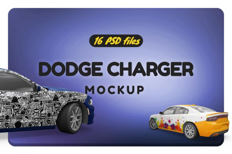 Free Dodge Charger Mockup (PSD Mockups)