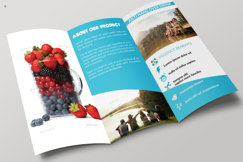 healthy-drinks-trifold-template