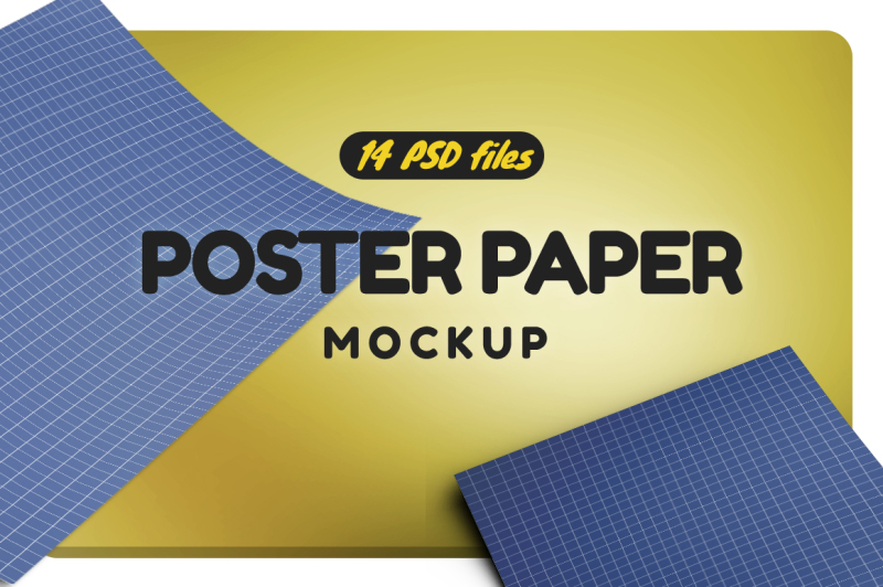 Free Realistic Paperposter Mockup (PSD Mockups)