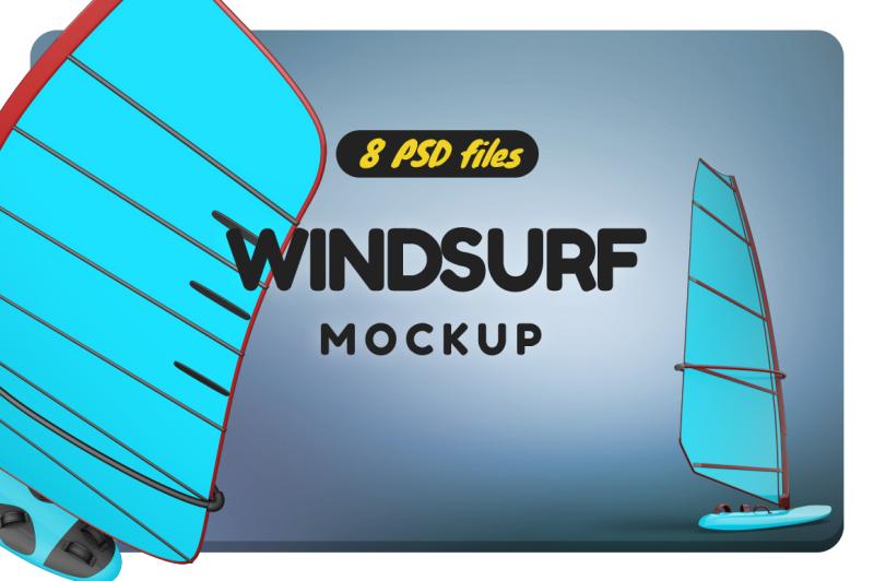 Free Windsurf Mockup (PSD Mockups)