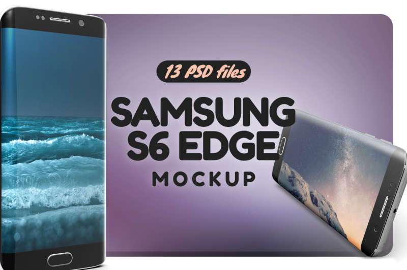 Free Samsung S6 Edge Mockup (PSD Mockups)