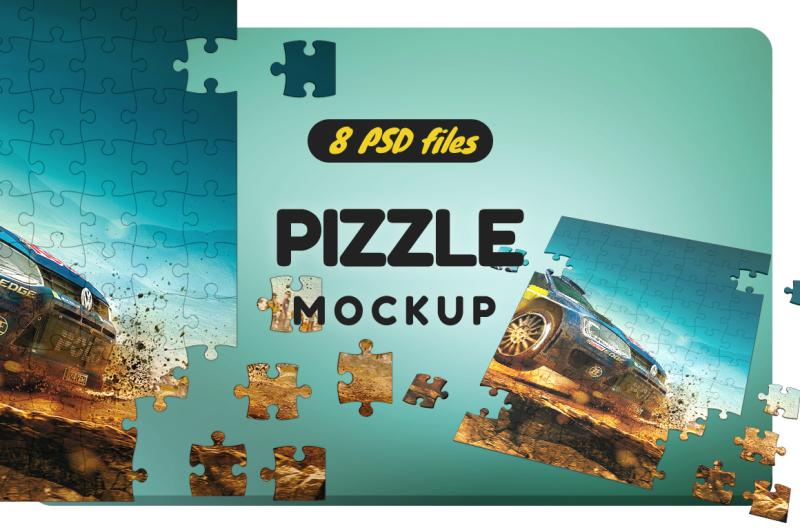 Free Puzzel Mockup (PSD Mockups)