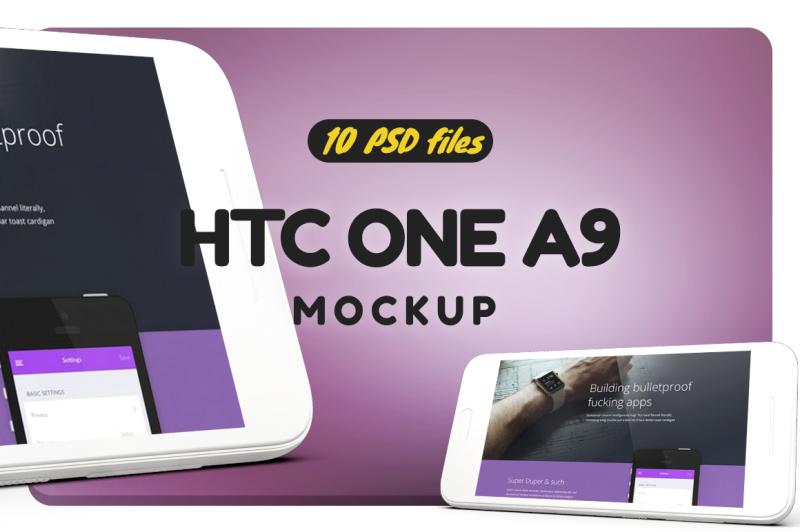 Free HTC One A9 Mockup (PSD Mockups)