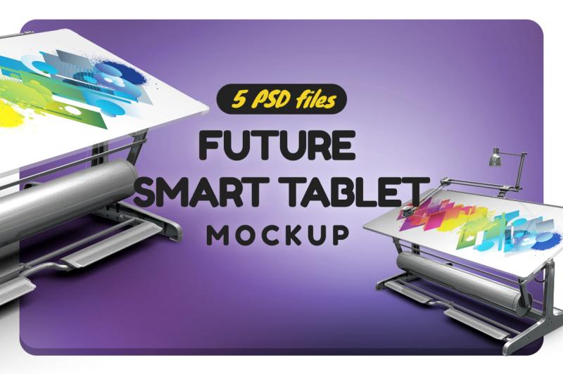 Free Future Smart Tablet Mockup (PSD Mockups)