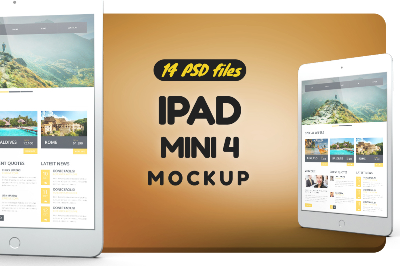 Free iPad Mini 4 Mockup (PSD Mockups)