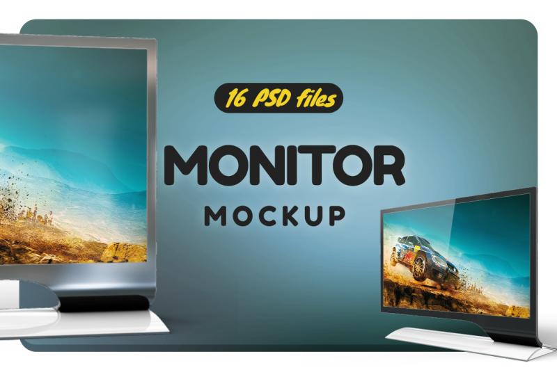 Free Monitor Serie 7 Led S27b750 Mockup (PSD Mockups)