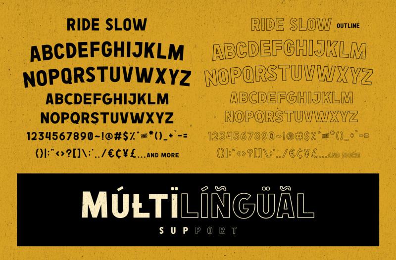 ride-slow-motorcycle-font-bundle