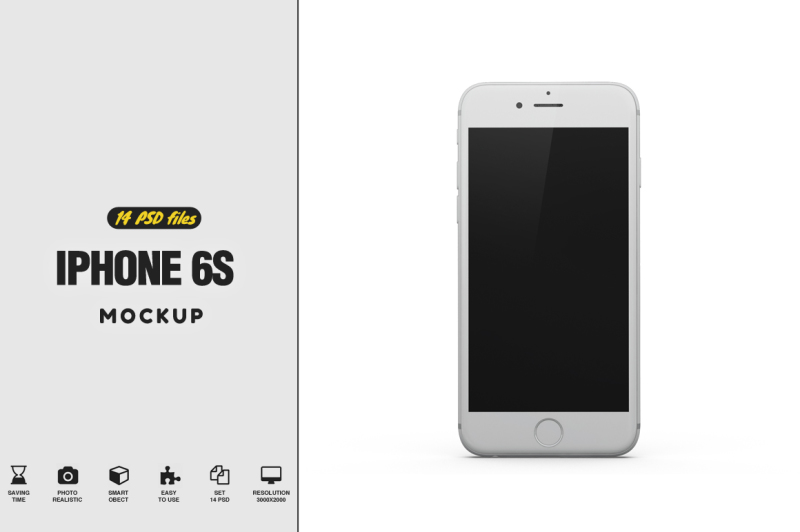 Free iPhone s6 Gravity Mockup (PSD Mockups)