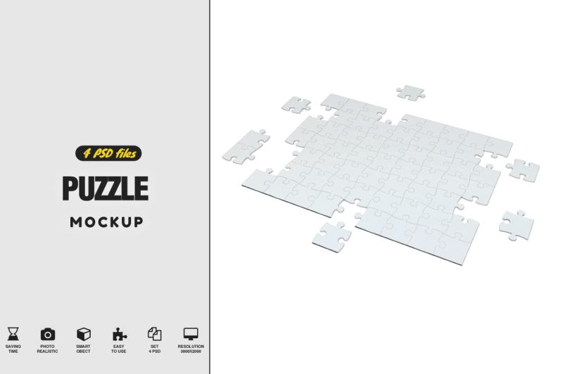 Free Puzzle Mockup Vol.2 (PSD Mockups)