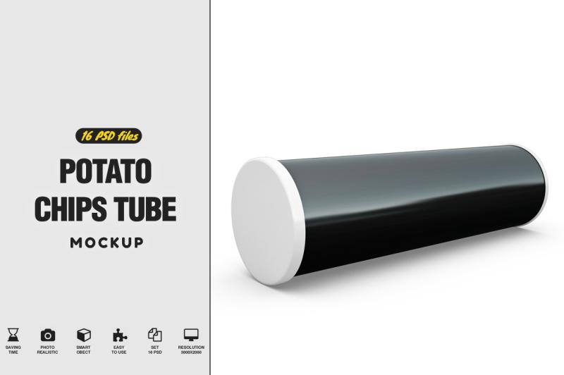 Download Potato Chips Tube Mockup Free Mockups