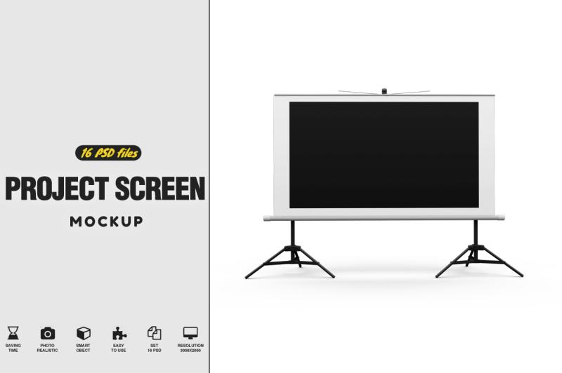 Free Projector Screen Mockup Vol.2 (PSD Mockups)